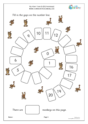 Preview of worksheet Harder number spirals 0 20 (spiders)