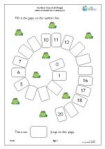 Harder number spirals 0 20 (frogs)