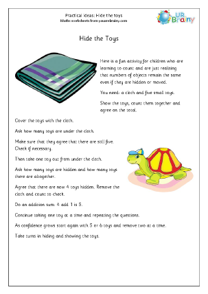 Preview of worksheet Hide the toys