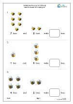 Adding numbers up to 10 (bees)
