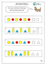 Shape colour patterns 1