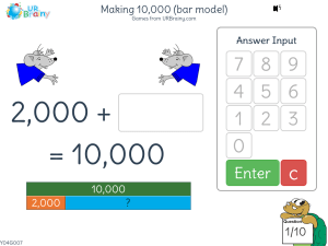 Preview of game Making 10,000 (bar model)