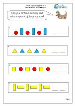 Shape colour patterns 3