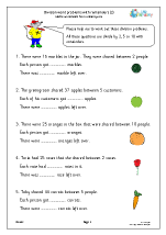 Division word problems with remainders (2)