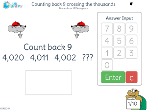 Preview of game Counting back 9 crossing the thousands