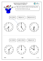 Read the time to the half hour (3)