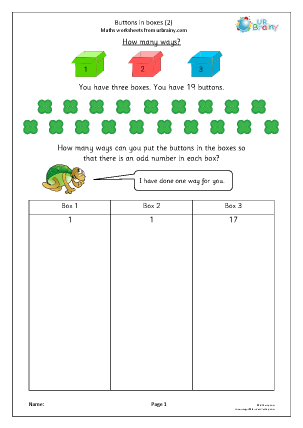 Preview of worksheet Buttons in boxes (2)