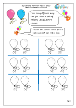 Colour balloons: how many ways?