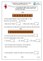 Find fractions of quantities