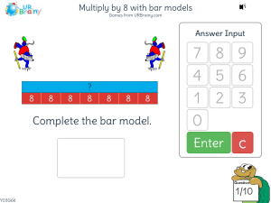 Preview of game Multiply by 8 with bar models