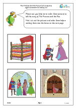 The Princess and the Pea: picture sequence