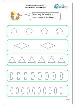 Fraction Worksheets for Year 1 (age 5-6)