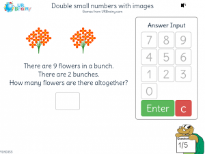 Preview of game Double small numbers with images