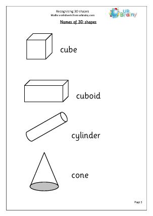 Number Names Worksheets » Math Worksheets Shapes - Free Printable ...