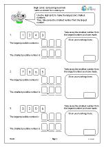 Digit cards: comparing decimals