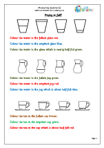 Measure capacity (1) Measurement Maths Worksheets For Year 1 (age 5-6)