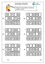 Missing digits: 5-digit addition