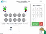 Count the money: 50p
