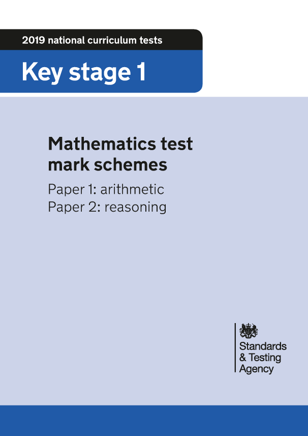 Preview of '2019 KS1 Maths Mark Scheme'