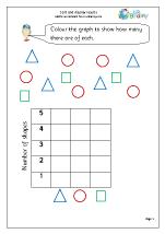 Statistics (Handling Data) Maths Worksheets for Year 1 (age 5-6)