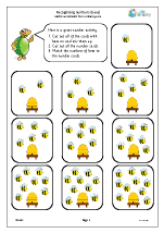 Recognising and matching numbers: bees