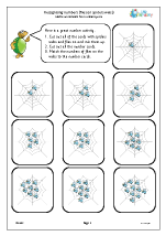 Recognising and matching numbers: flies on a web
