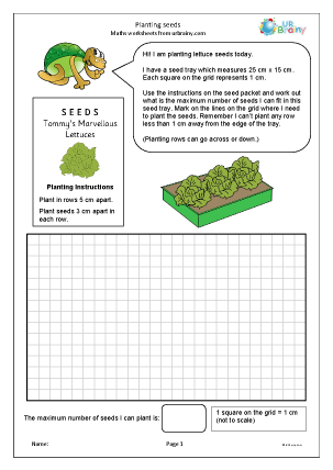 Preview of worksheet Planting seeds