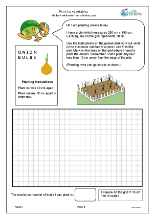 Preview of worksheet Planting vegetables