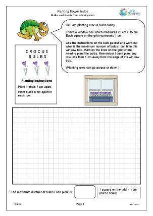 Preview of worksheet Planting flower bulbs