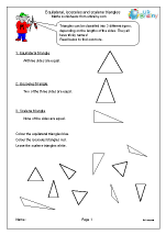 Recognising types of triangles