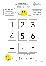 Make 4: number sentences