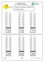 using an abacus 4 reading and writing numbers maths worksheets for year 1 age 5 6. Black Bedroom Furniture Sets. Home Design Ideas