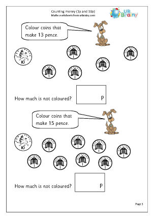 math worksheet : money maths worksheets for year 1 age 5 6  : Maths Worksheets Money