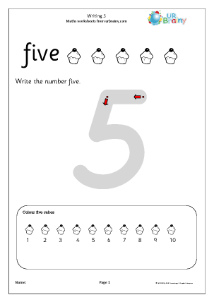 writing 5 writing number as digits maths worksheets for early reception age 4 5. Black Bedroom Furniture Sets. Home Design Ideas