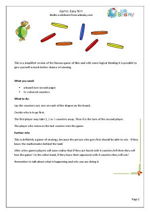 Preview of worksheet Easy Nim