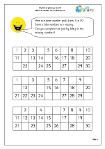 Number grid to 30
