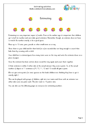 estimating 1 counting maths worksheets for year 1 age 5 6. Black Bedroom Furniture Sets. Home Design Ideas