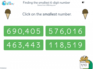 Preview of game Finding the smallest 6-digit number