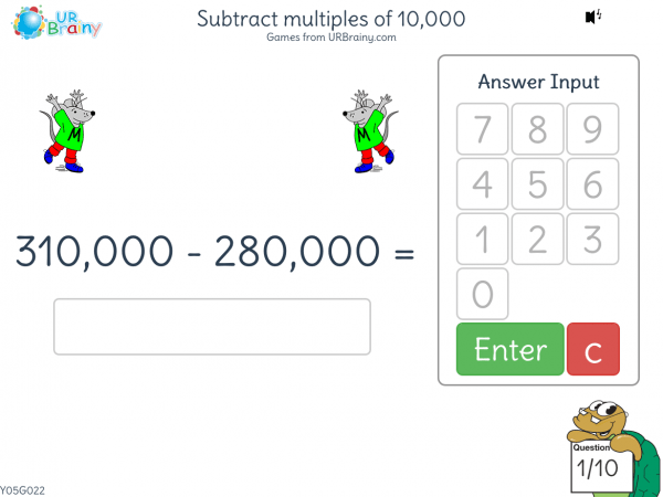 Preview of 'Subtract multiples of 10,000 (harder)'