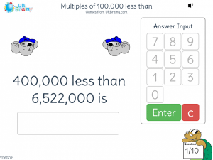 Preview of game Multiples of 100,000 less than