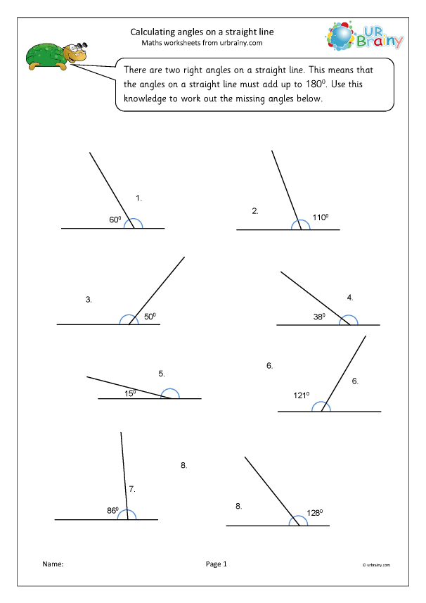 Preview of 'Calculate angle on a straight line'