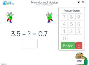 Preview of game More decimal division