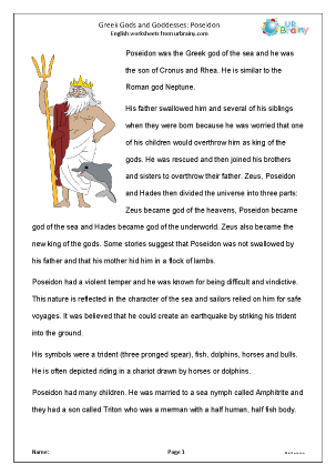 Preview of worksheet Poseidon
