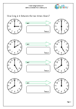 how long between time maths worksheets for year 2 age 6 7. Black Bedroom Furniture Sets. Home Design Ideas