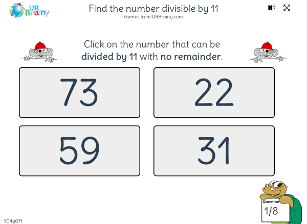 Preview of 'Find the number divisible by 11'