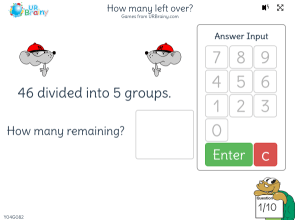 Preview of game How many left over?