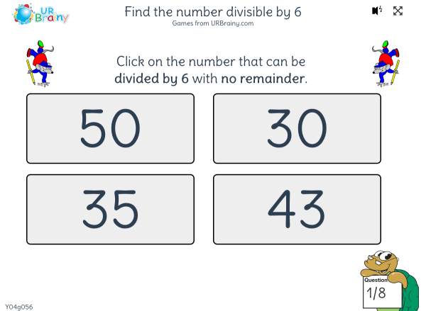 Preview of 'Find the number divisible by 6'