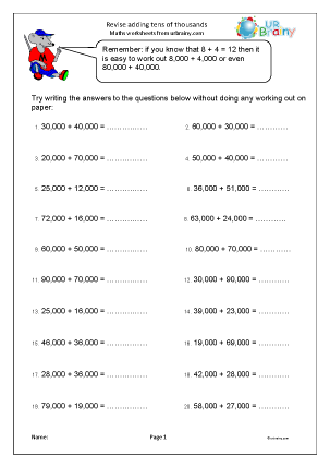 Year 6 Maths Worksheets Age 10 11 Urbrainy Com
