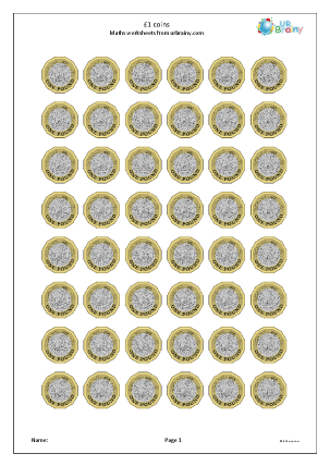 Preview of worksheet £1 coins