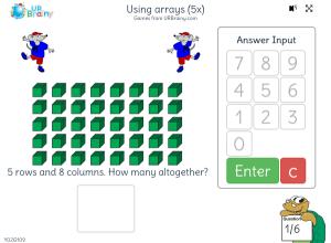 Preview of game Using arrays (5x)